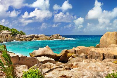 Amazing Seychelles With Unique Granite Rocks-Maugli-l-Photographic Print