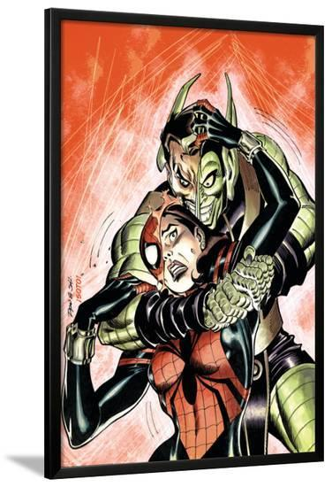 Amazing Spider-Girl No.29 Cover: Spider-Girl and Green Goblin-Ron Frenz-Lamina Framed Poster
