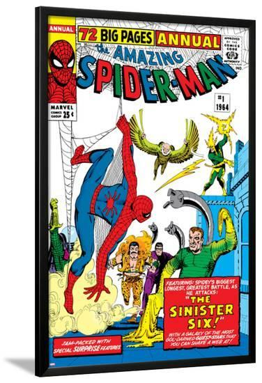 Amazing Spider-Man Annual No.1 Cover: Spider-Man, Sandman, Mysterio, Dr. Otto Octavius, and Electro--Lamina Framed Poster
