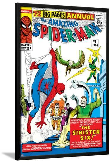 Amazing Spider-Man Annual No.1 Cover: Spider-Man-Steve Ditko-Lamina Framed Poster