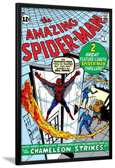 Amazing Spider-Man No.1 Cover: Spider-Man-Steve Ditko-Lamina Framed Poster