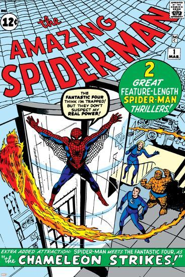 Amazing Spider-Man No.1 Cover: Spider-Man-Steve Ditko-Art Print