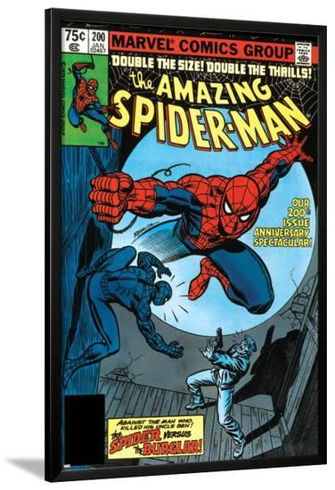 Amazing Spider-Man No.200 Cover: Spider-Man Fighting--Lamina Framed Poster