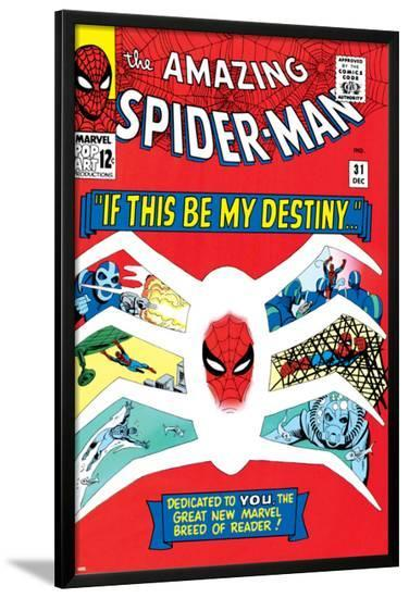 Amazing Spider-Man No.31 Cover: Spider-Man-Steve Ditko-Lamina Framed Poster