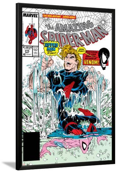Amazing Spider-Man No.315 Cover: Spider-Man and Hydro-Man-Todd McFarlane-Lamina Framed Poster
