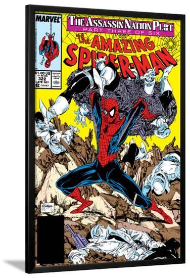 Amazing Spider-Man No.322 Cover: Spider-Man-Todd McFarlane-Lamina Framed Poster