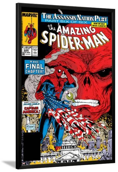 Amazing Spider-Man No.325 Cover: Spider-Man and Red Skull-Todd McFarlane-Lamina Framed Poster