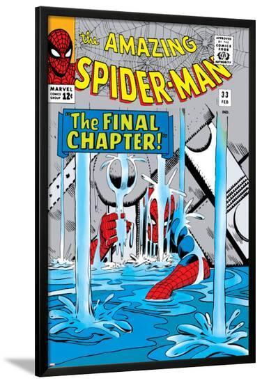 Amazing Spider-Man No.33 Cover: Spider-Man-Steve Ditko-Lamina Framed Poster