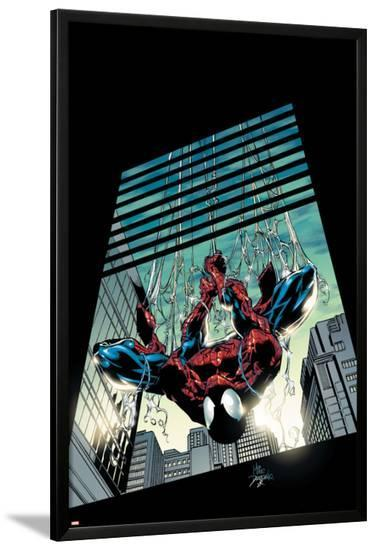Amazing Spider-Man No.514 Cover: Spider-Man-Mike Deodato-Lamina Framed Poster