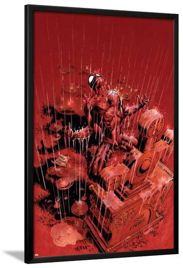 Amazing Spider-Man No.525 Cover: Spider-Man Fighting-Mike Deodato-Lamina Framed Poster
