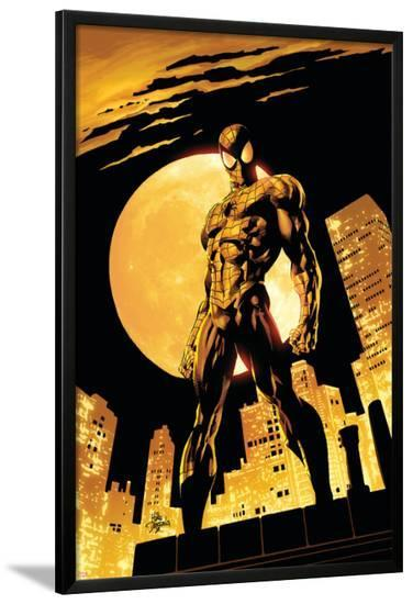 Amazing Spider-Man No.528 Cover: Spider-Man-Mike Deodato-Lamina Framed Poster