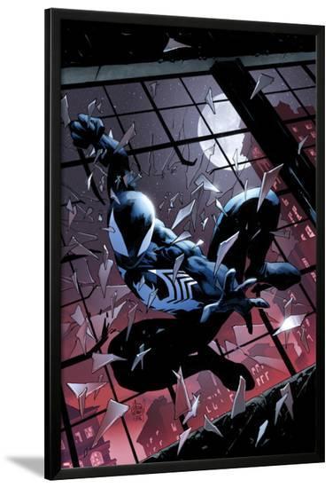 Amazing Spider-Man: Renew your Vows #3 Featuring Black Costume Spider-Man-Adam Kubert-Lamina Framed Poster