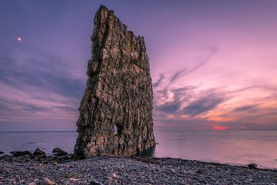 Amazing Sunset near Sail Rock in Russia-mkolesnikov85-Photographic Print
