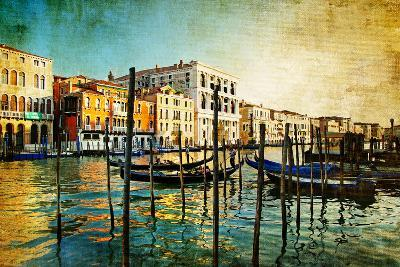 Amazing Venice - Artwork In Painting Style-Maugli-l-Art Print