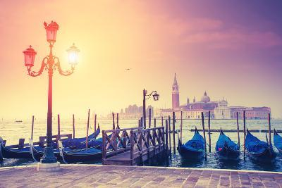 Amazing View of Grand Canal at Sunset with San Giorgio Maggiore Church. San Marco, Venice, Italy, E-Leonid Tit-Photographic Print