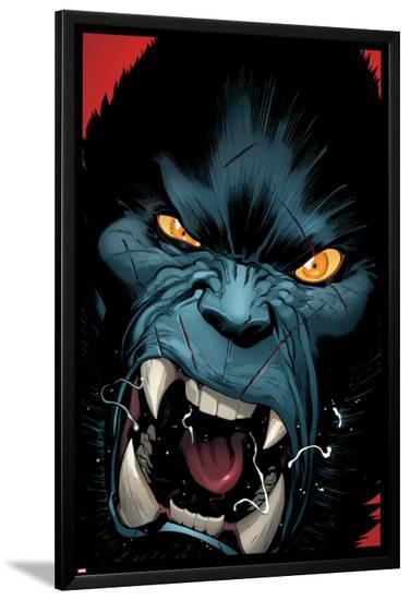 Amazing X-Men #3 Cover: Beast-Ed McGuinness-Lamina Framed Poster