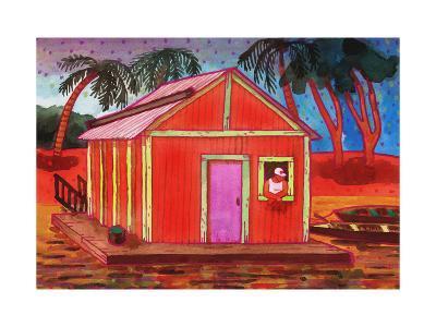 Amazon River Houseboat-John Newcomb-Giclee Print
