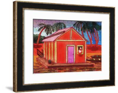 Amazon River Houseboat-John Newcomb-Framed Giclee Print