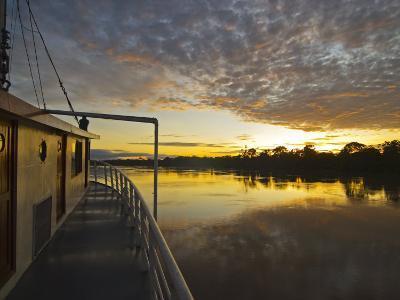 Amazon River, Sunrise on the Ayapua Riverboat, Yavari River, a Tributary of the Amazon River, Peru-Paul Harris-Photographic Print