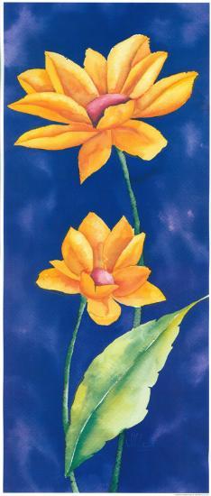 Amber Flowers III-Villalba-Art Print