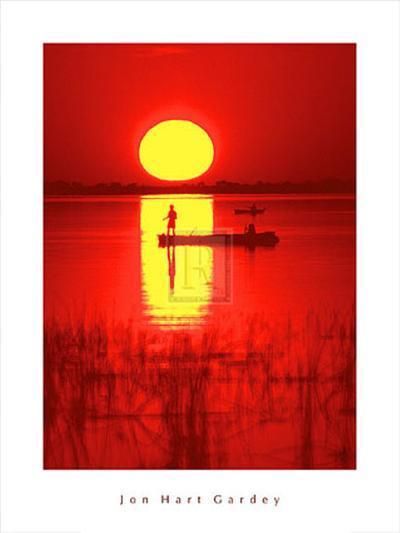 Amber Silhouette-Jon Hart Gardey-Art Print
