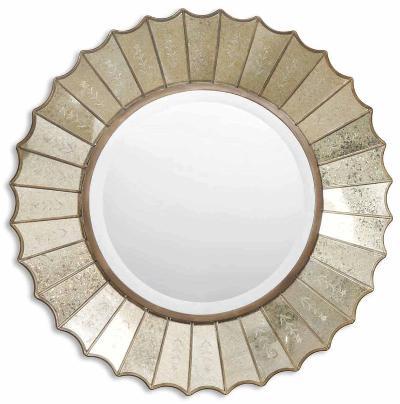 Amberlyn Sunburst Gold Mirror--Wall Mirror