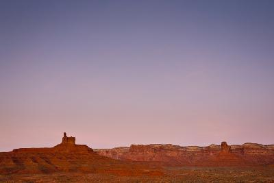 Ambient Dawn Light Casts Pastel Colors Over The Landscape Of Valley Of The Gods In Southern Utah-Mike Cavaroc-Photographic Print