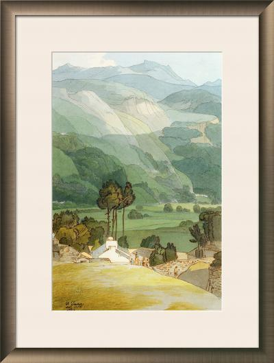 Ambleside, 1786 (W/C with Pen and Ink over Graphite on Laid Paper)-Francis Towne-Framed Giclee Print