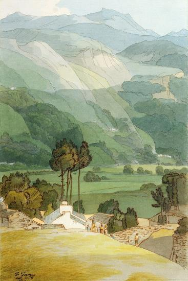 Ambleside, 1786 (W/C with Pen and Ink over Graphite on Laid Paper)-Francis Towne-Premium Giclee Print