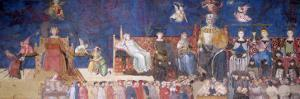 Allegory of Good Government, 1338-40 by Ambrogio Lorenzetti