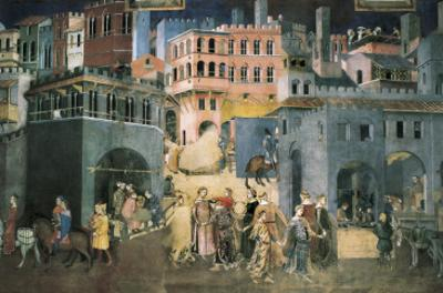 Allegory of the Good Government: Effects of Good Government on the City Life