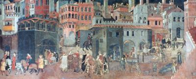 Effects of Good Government on the City Life, (Detail), C1330