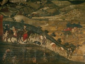 Landscape with Peasants and a Hunting Party by Ambrogio Lorenzetti