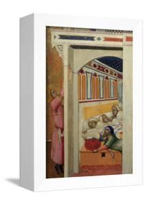 Saint Nicholas Giving Three Balls of Gold to Three Poor Girls by Ambrogio Lorenzetti