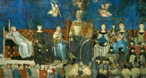 The Allegory of Good Government, Showing the Virtues by Ambrogio Lorenzetti