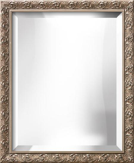 AMBROSIA Silver Wide Mirror--Wall Mirror