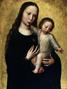 The Virgin Mary with the Child Jesus in a Shirt by Ambrosius Benson