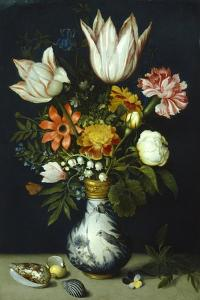 Flowers in a Porcelain Vase, C1600 by Ambrosius Bosschaert