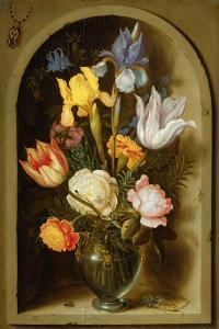 Still Life with Flowers and Insects by Ambrosius The Elder Bosschaert