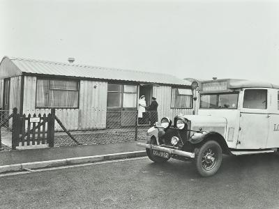 Ambulance Delivering a Cylinder of Gas, Woolwich, London, 1946--Photographic Print