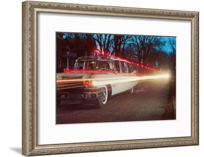 Ambulance with Light Effects, Retro--Framed Art Print