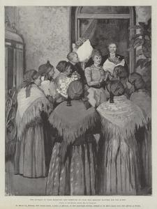 The Duchess of York Receiving the Fishwives of Nice, Who Brought Flowers for the Queen by Amedee Forestier