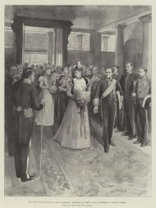 The Duke and Duchess of York in Ireland, Reception of their Royal Highnesses at Dublin Castle by Amedee Forestier