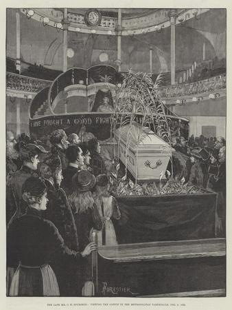 The Late Mr C H Spurgeon, Viewing the Coffin in the Metropolitan Tabernacle, 9 February 1892