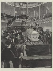 The Late Mr C H Spurgeon, Viewing the Coffin in the Metropolitan Tabernacle, 9 February 1892 by Amedee Forestier