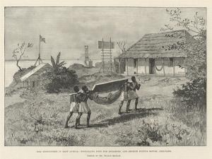 The Portuguese in East Africa, Signaling Post for Steamers and Senhor Pinto's House, Chilvane by Amedee Forestier