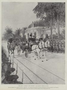 The Queen's Journey to the Continent, Her Majesty's Arrival at Nice by Amedee Forestier