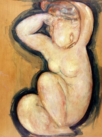 Caryatid, circa 1913-14 by Amedeo Modigliani