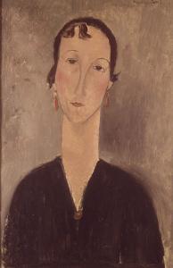 Femme aux boucles d'oreilles by Amedeo Modigliani