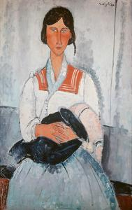 Gipsy Woman with Child, 1918 by Amedeo Modigliani